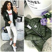 Куртка парка весна/осень 2018, модель 210/7, цвет хаки