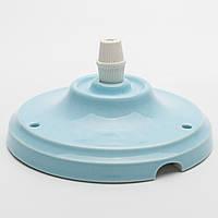 Потолочный крепеж керамический голубой