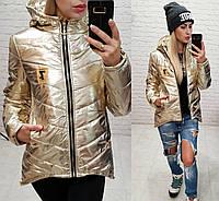 Куртка парка весна/осень 2018, модель 210/7, цвет светлое золото