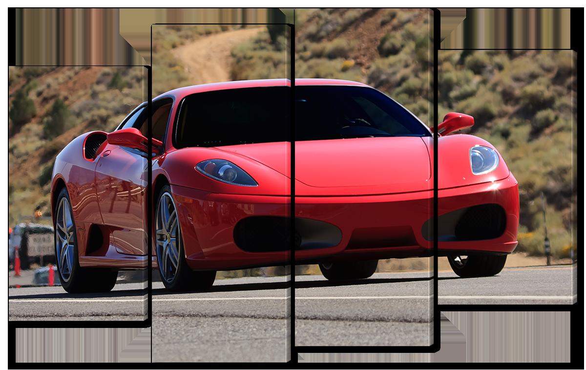 Модульная картина Interno Эко кожа  Феррари F430 94x56см (A1603S)