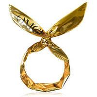 Повязка-Солоха для фиксации волос во время косметических процедур, Золотая DOUBLE DARE OMG!