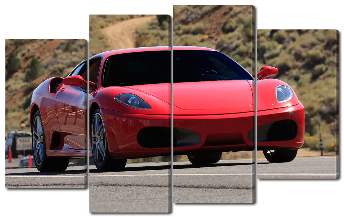 Модульная картина Interno Эко кожа Феррари F430 166x120см (A1603XXL)