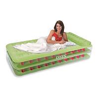 67716  надувная кровать intex MATERAC DO SPANIA JUNIOR TRANSPARENT INTEX 67716 + POMPKA - 99 X 191 X 47 CM