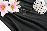 Лоскут сатина, цвет чёрный, №1324, размер 28*80 см, фото 3