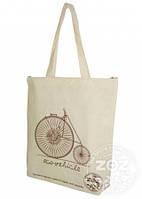 """Эко-сумка хлопок """"Велосипед"""""""