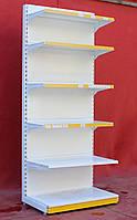 Пристенные (односторонние) стеллажи «Ристел» 190х95 см., белые, Б/у, фото 1