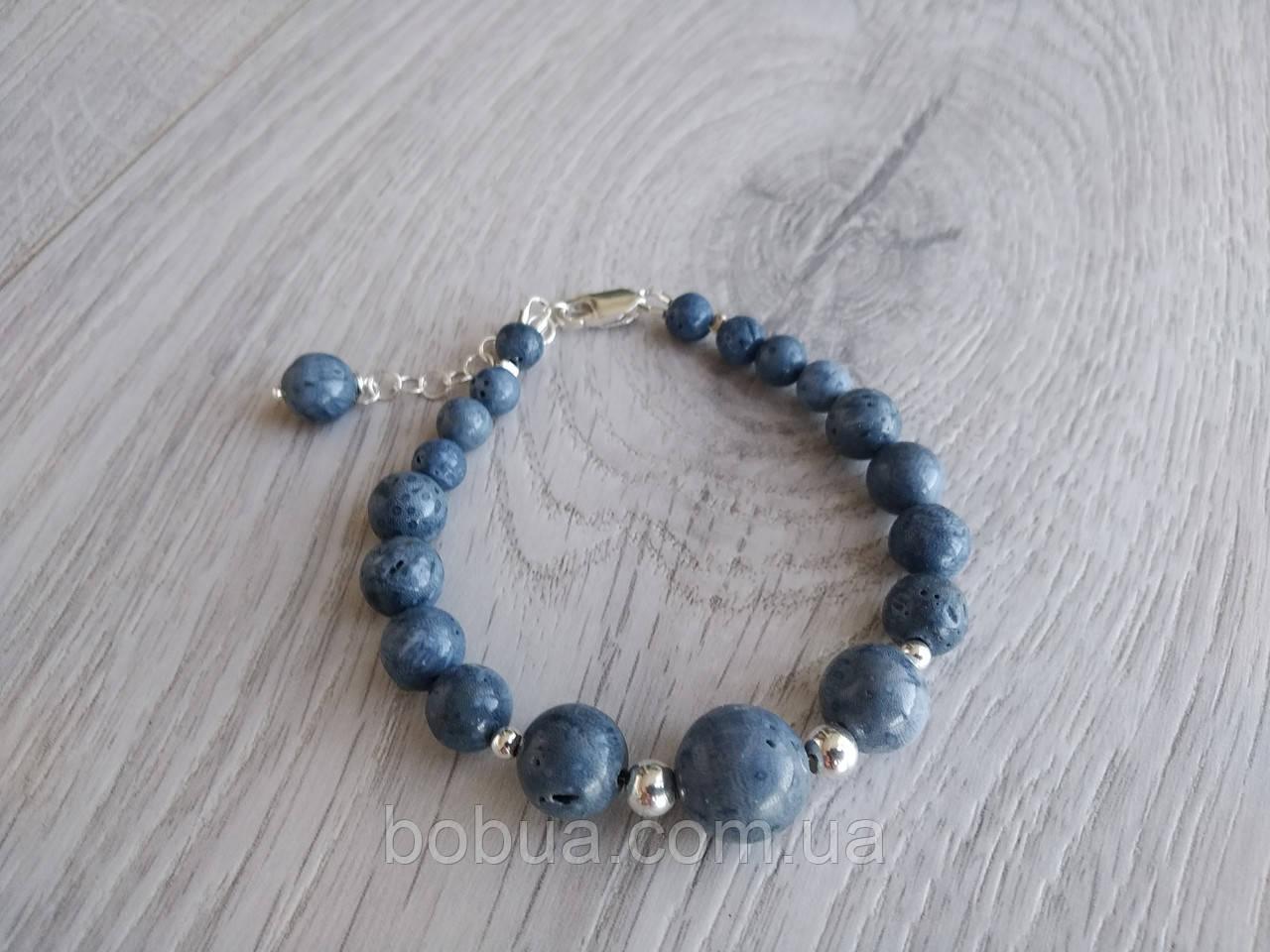 Браслет ′Голубой коралл′