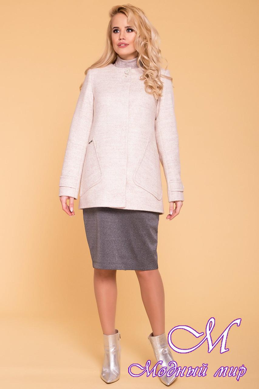 Женское короткое пальто демисезонное (р. S, M, L) арт. Латте 5636 - 41001