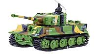 Микро танк на радиоуправлении Tiger в масштабе 1:72 (зеленый хаки), фото 1