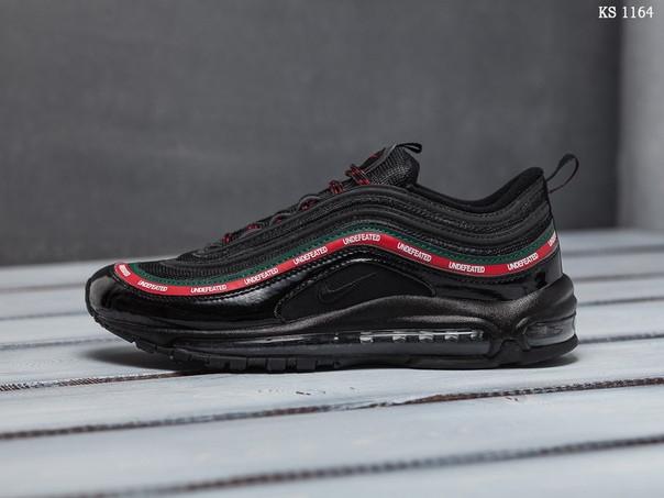 Мужские кроссовки Nike Air Max 97 (черные гуччи)