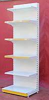 Пристенные (односторонние) стеллажи «Ристел» 230х75 см., белые, Б/у, фото 1