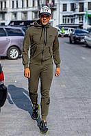 Костюм спортивный мужской из двунитки с капюшоном Найк Копия (К28717), фото 1