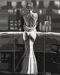 Картина по номерам Созерцая город (KHO4611) 40 х 50 см Идейка [Без коробки]