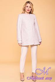 Жіноче вільний демісезонне пальто (р. S, M, L) арт. Латте 5636 - 41673