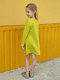 Повседневное платье для девочки с длинным рукавом Совушка (4-8 лет), фото 2