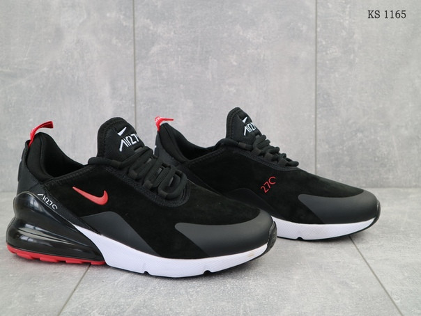 Мужские кроссовки Nike Air Max 270 (черно/красные)