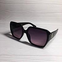 Женские очки в стиле Yves Saint Laurent Темно-сиреневые