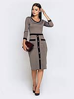 Серое платье черная полоска 42-44 44-46 48-50 52-54 56-58