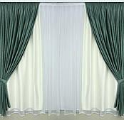 Готовые дорогие бархатные плотные шторы с рисунком в спальню,залу (цвет серый,беж,фиолетовый,зелёный и слива)