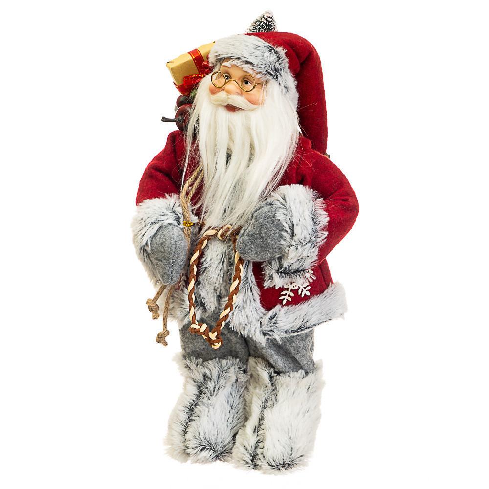 Фигурка Дедушка Мороз с подарками h=30см (025NC)