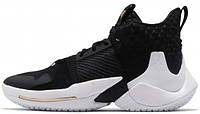Баскетбольные кроссовки Nike Air Jordan Why Not Zer0.2 The Family Найк Аир Джордан черные 41 размер