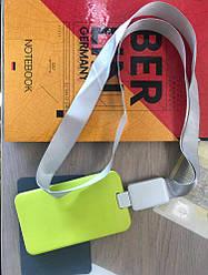 Шнурок для бейджа Office, з ретрактором, сірий, 4560