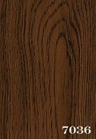 Дверь гармошкой глухая дуб темный 7036, 81*203*0,6 см