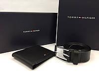 Мужское портмоне + ремень в стиле Tommy Hilfiger (043)