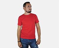 Мужская Футболка Классическая Fruit of the loom Красный 61-036-40 M