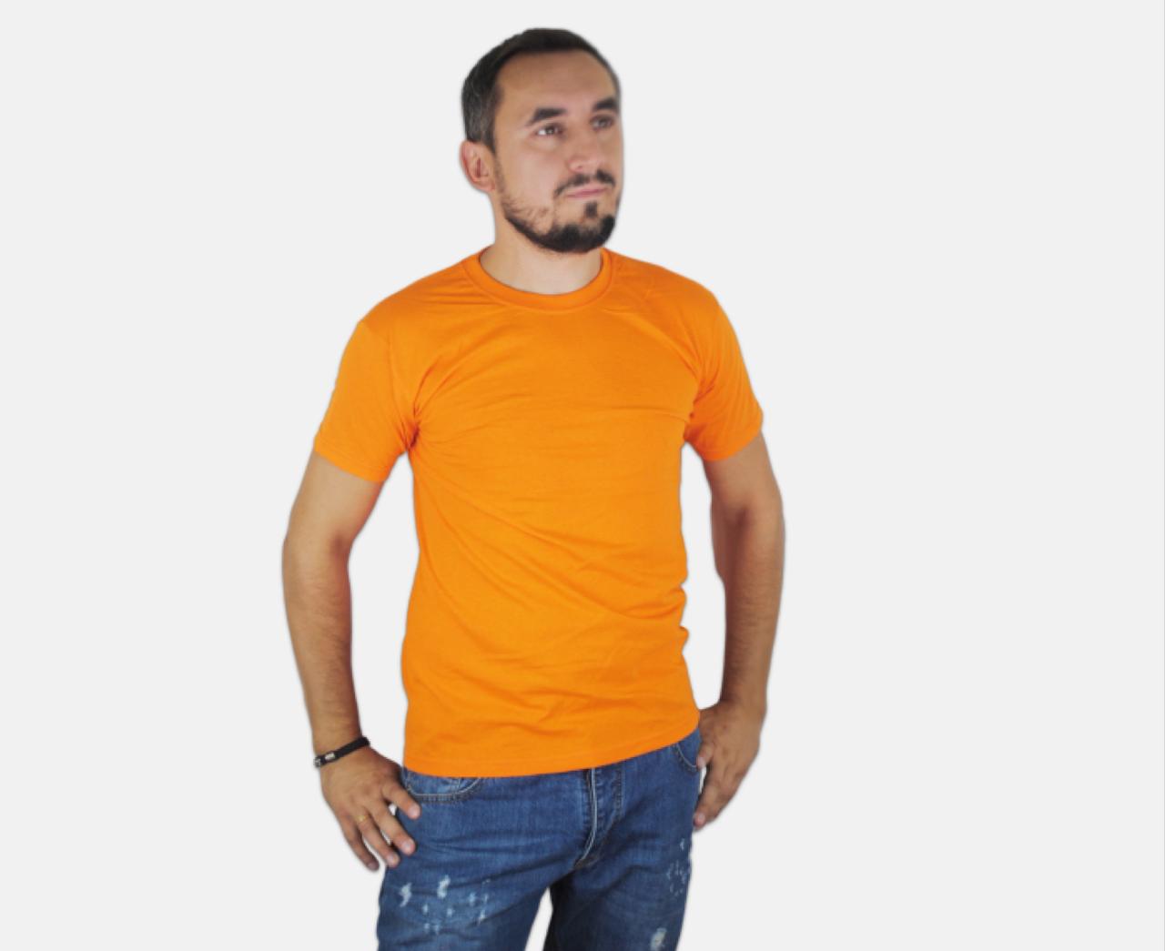 Мужская Футболка Классическая Fruit of the loom Оранжевый 61-036-44 Xl
