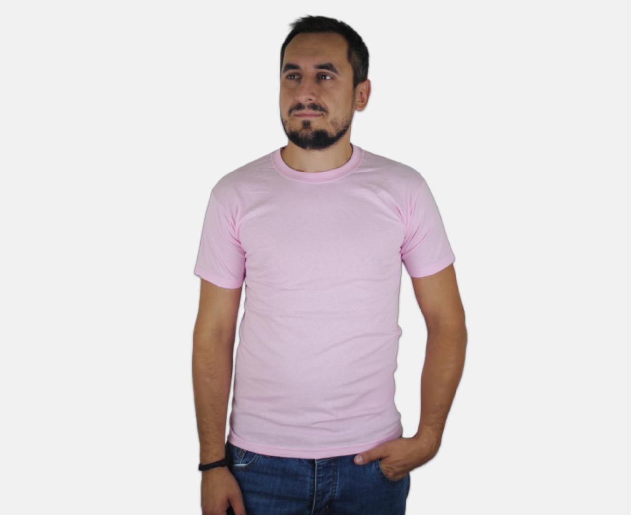 Мужская Футболка Классическая Fruit of the loom Светло-Розовый 61-036-52 M