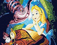 Картина по номерам на холсте Алиса и Чеширский Кот, GX30456