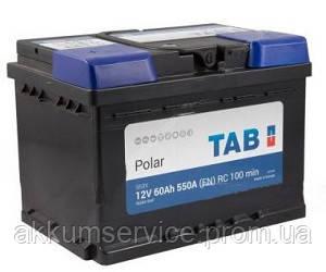 Аккумулятор автомобильный TAB Polar 60AH L+ 550A