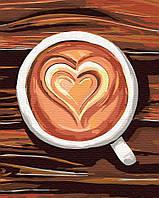Картина по номерам на холсте Любовь в чашке, GX30466