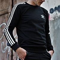 Толстовка мужская черная Adidas, кофта спортивная Адидас