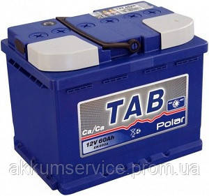 Аккумулятор автомобильный TAB Polar Blue 60AH R+ 600A