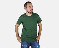 Мужская Футболка Классическая Fruit of the loom Тёмно-Зелёный 61-036-38 L