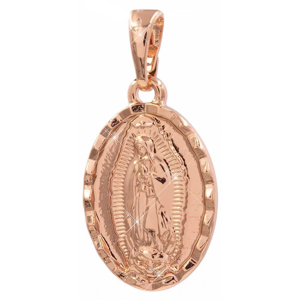 Подвеска Иконка Богородица 1,5 см (Медицинское золото)