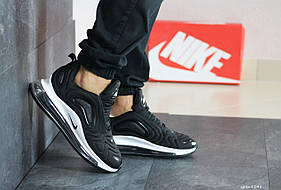 Мужские кроссовки Nike Air Max 720, черные с белым / кросівки чоловічі Найк (Топ реплика ААА+)