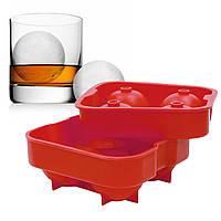 ☟Силиконовая форма CUMENSS Ледяной шар Red для льда и кейк попсов 4 шт