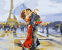 Картина по номерам на холсте Предложение в Париже, GX3122