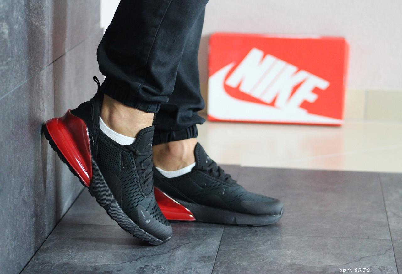 Мужские кроссовки Nike Air Max 270 (черно-красные)