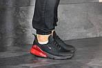 Мужские кроссовки Nike Air Max 270 (черно-красные), фото 6