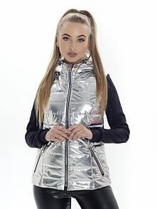 Жилет с капюшоном Irvik КА815 серебро