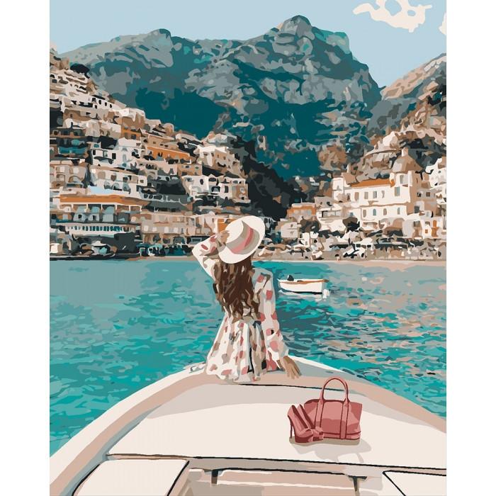 Картина по номерам на холсте Путешествие на яхте, KHO4614