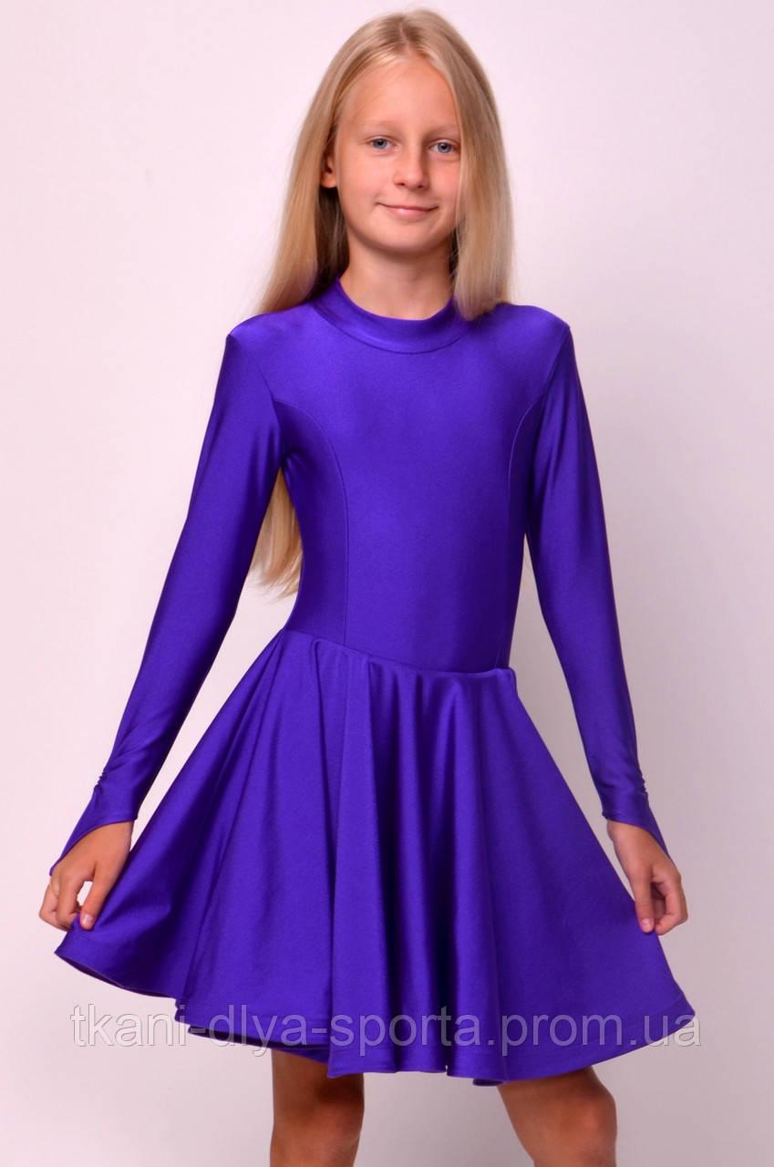 Рейтинговое платье (бейсик) для выступлений, фиолетовый