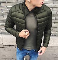 Куртка мужская весенне осеняя хаки. Фото в живую, фото 1