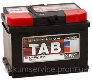 Аккумулятор автомобильный TAB Magic 62AH R+ 600A (189063)