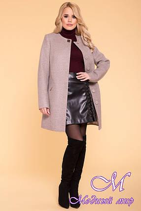 Женское кашемировое пальто демисезонное (р. S, M, L) арт. Люцея 6180 - 40894, фото 2