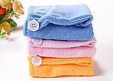 Чалма - рушник для сушіння волосся мікрофібра для дітей до 9 років., фото 4